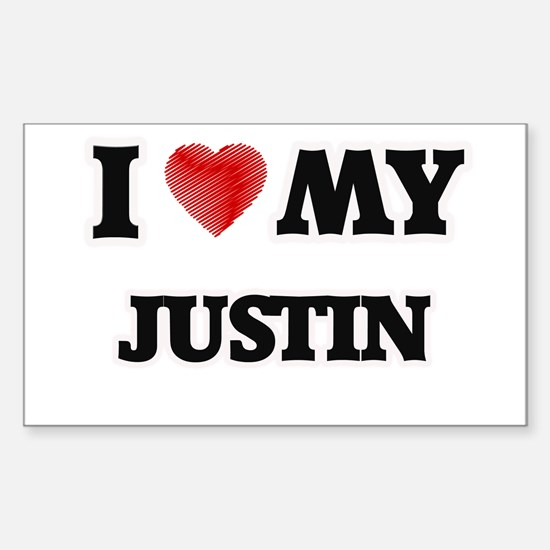 I love my Justin Decal