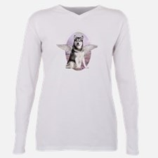 Unique Wolfs Plus Size Long Sleeve Tee