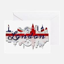Unique London eye Greeting Card