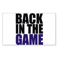 Back in the Game Rectangle Decal