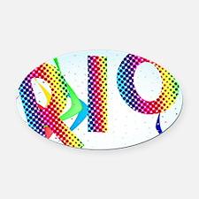 Funny Rio de janeiro Oval Car Magnet