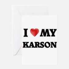 I love my Karson Greeting Cards