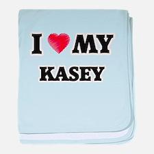 I love my Kasey baby blanket