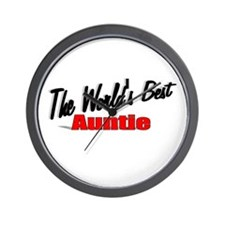 """The World's Best Auntie"" Wall Clock"
