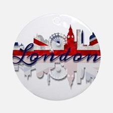 London Skyline Round Ornament