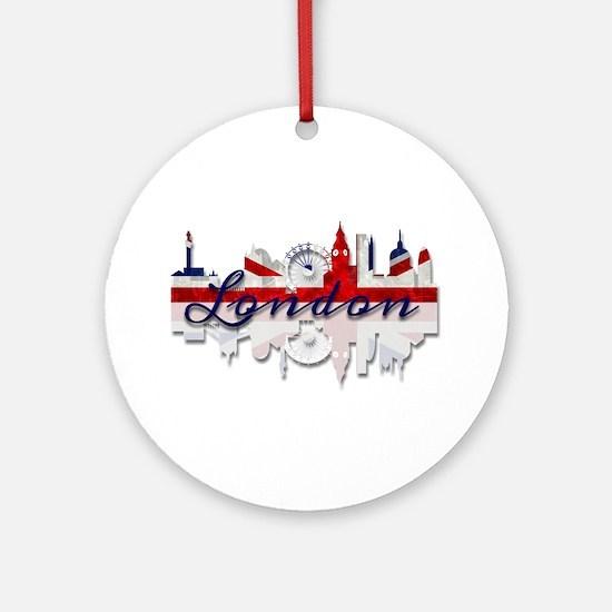 London Skyline Round Ornament