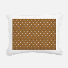 CUPS ON BROWN Rectangular Canvas Pillow