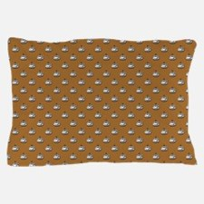 CUPS ON BROWN Pillow Case