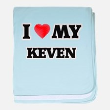 I love my Keven baby blanket