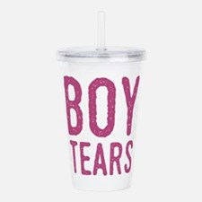 Boy Tears Acrylic Double-wall Tumbler