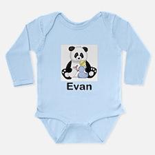 Evan's Little Panda Long Sleeve Infant Bodysuit
