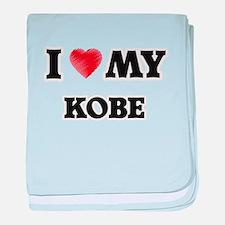 I love my Kobe baby blanket
