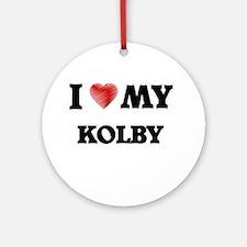 I love my Kolby Round Ornament