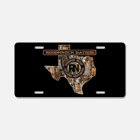 Texas Rig Up Camo Oilfield Aluminum License Plate