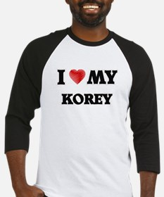 I love my Korey Baseball Jersey