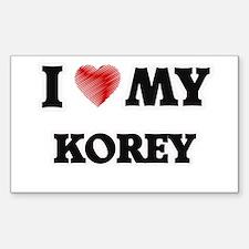 I love my Korey Decal