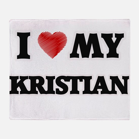 I love my Kristian Throw Blanket