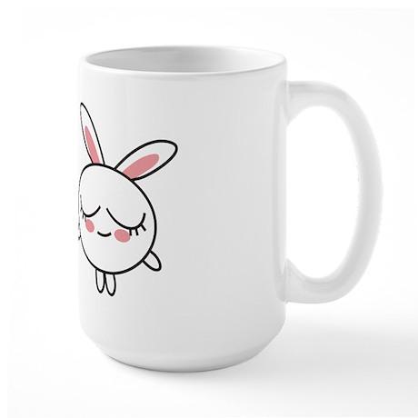 Be Happy Bunny Large Mug