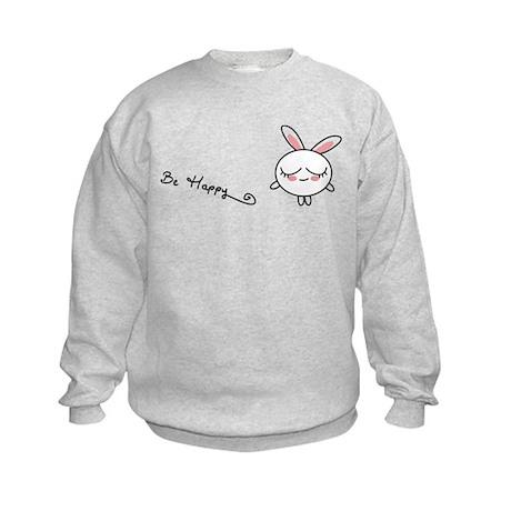 Be Happy Bunny Kids Sweatshirt