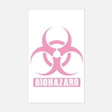 Biohazard Rectangle Decal