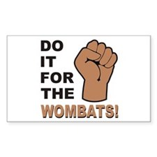 For The Wombats! Rectangle Decal