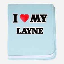 I love my Layne baby blanket