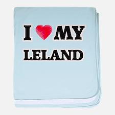 I love my Leland baby blanket