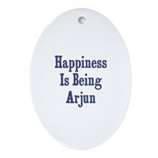 Happiness is being Arjun Oval Ornament