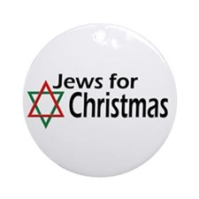 Jews for Christmas Ornament (Round)