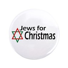 "Jews for Christmas 3.5"" Button (100 pack)"