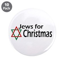 "Jews for Christmas 3.5"" Button (10 pack)"