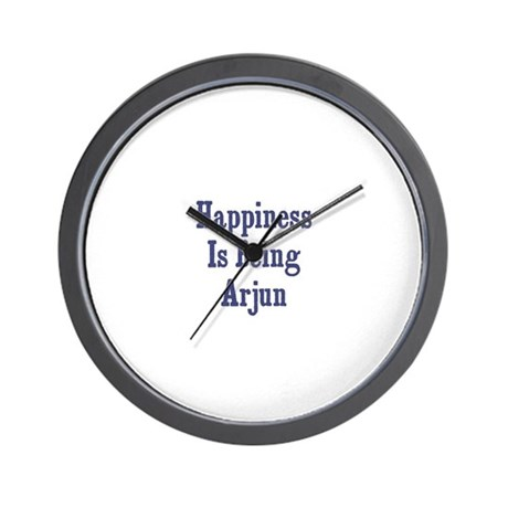 Happiness is being Arjun Wall Clock
