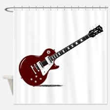 Isolated Rock Guitar Shower Curtain
