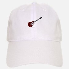 Isolated Rock Guitar Baseball Baseball Cap