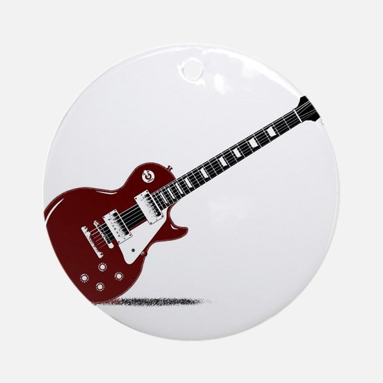 Isolated Rock Guitar Round Ornament