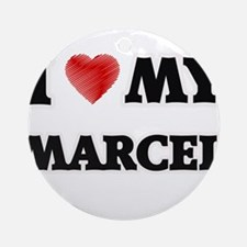 I love my Marcel Round Ornament
