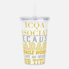 Personalize Work Acrylic Double-wall Tumbler