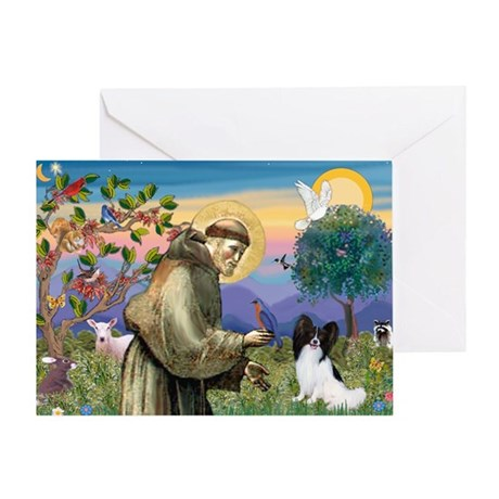 St Francis & Papillon Greeting Card