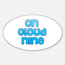 Cute Cloud nine Sticker (Oval)