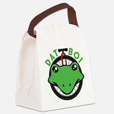 Dat Boi Frog Retro Canvas Lunch Bag