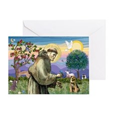 St Francis & Border T Greeting Card