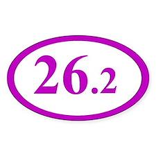 Purple 26.2 Marathon Oval Decal