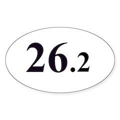26.2 Marathon Sticker (no border) (Oval)