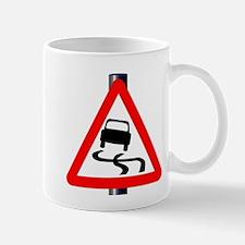 Danger SkiddingTraffic Sign Mugs