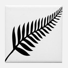 Silver Fern of New Zealand Tile Coaster