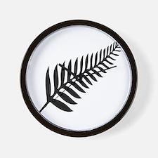 Silver Fern of New Zealand Wall Clock