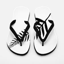 Silver Fern of New Zealand Flip Flops