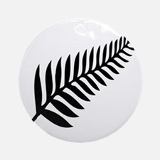 Silver Fern of New Zealand Round Ornament