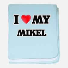 I love my Mikel baby blanket