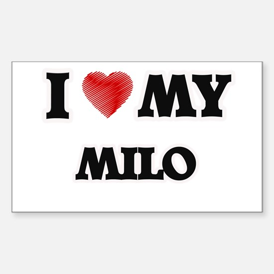 I love my Milo Decal